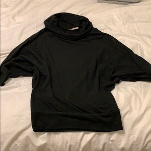 Sweaters - Oof size small black cowl neck top.